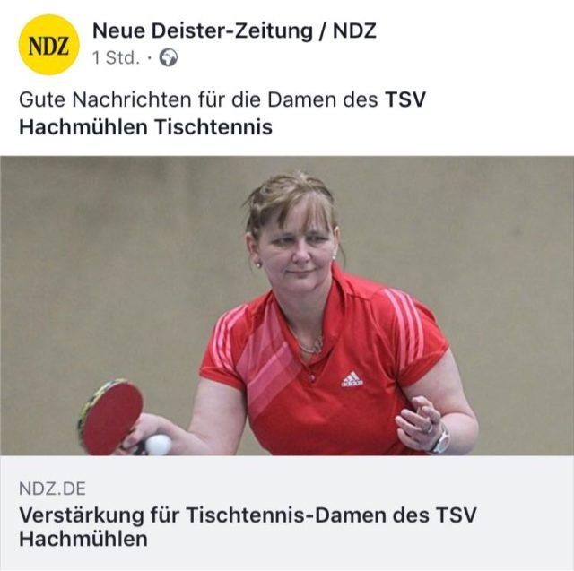 Verstärkung der Tischtennis-Damen