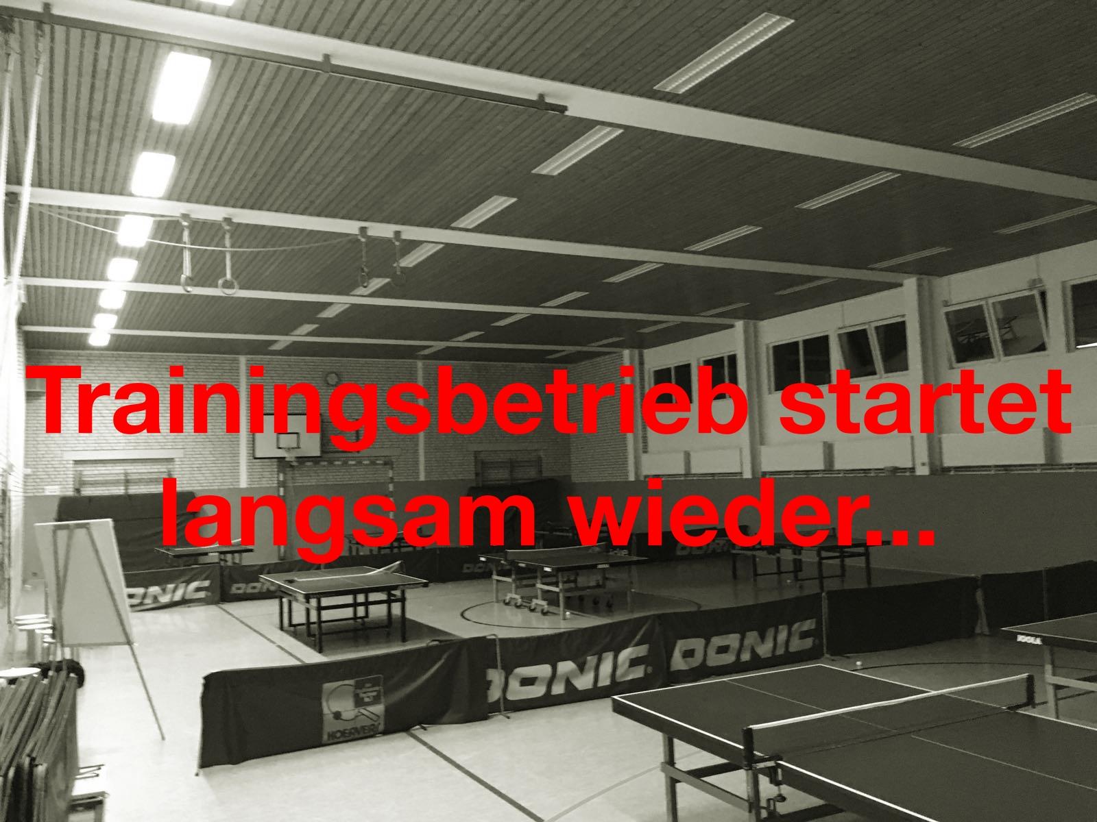 Trainingsbeginn startet wieder