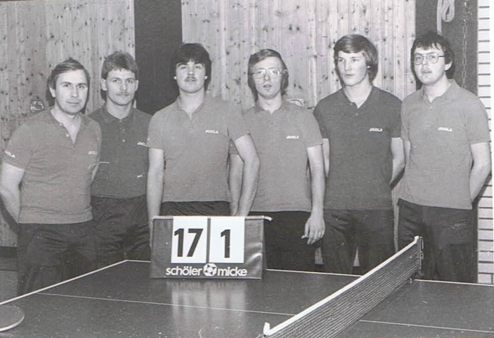 v.l. Harald Schrader, Udo Erm, Thomas Schnorfeil, Arno Scholz, Klaus Hoferichter, Hubert Schnorfeil